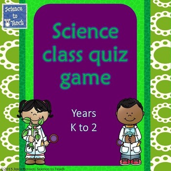 Science Quiz Game K-2