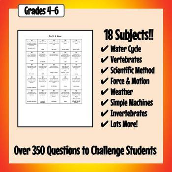 Science Quiz Question Bank