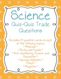 Science Quiz-Quiz-Trade Game Questions