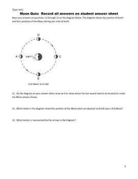 Middle School Science Quiz - The Moon