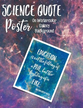 Science Quote Poster #2 - Galaxy Background