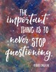 Science Quote Poster #3 - Galaxy Background