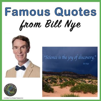 Science Quote Posters - Bill Nye