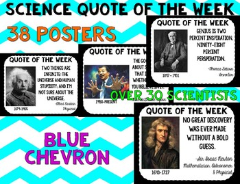 Science Quote of the Week- Blue Chevron