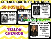 Science Quote of the Week- Yellow Chevron