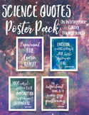 Science Quotes Poster Pack on Watercolor Galaxies