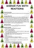 Science - Reactions - Detailed Lesson Plan for 4-11 Year Olds