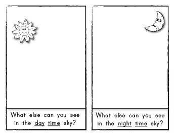 Science Emergent Reader (Day and Night) for Young Readers!