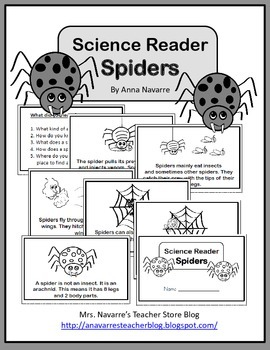 Science Reader - Spiders