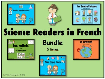 Science Readers bundle in French (des livres de Science)