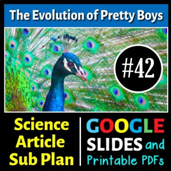 Science Literacy Reading #42 - The Evolution of Pretty Boys - Science Sub Plan