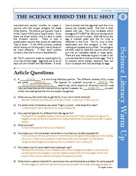 Science Literacy Reading Article and Sub Plan   The ...