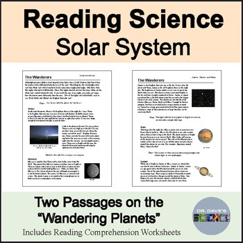 Space Science Reading Comprehension