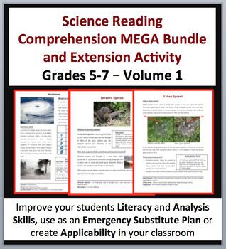 Science Article Bundle Volume 1 - 35 Science Reading Artic