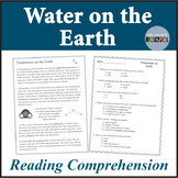 Science Reading Comprehension, Distribution of Water on Earth