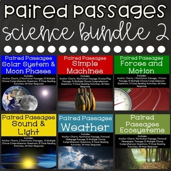 Science Reading Comprehension Paired Passages {Bundle 2}