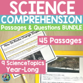 Science Reading Comprehension Passages & Questions   Print