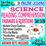 Science Reading Comprehension Passages & Questions. Set 5/5. Distance Learning