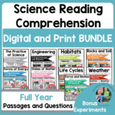 Science Reading Comprehension Passages & Questions   Year