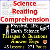 Science Reading Comprehension Passages and Questions | MEGA BUNDLE | Gr5-6