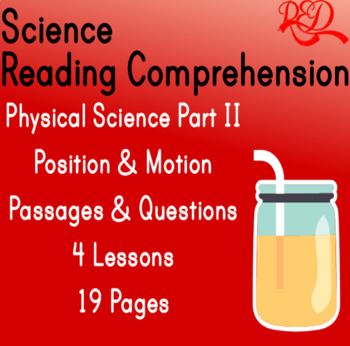 Physical Science Reading Comprehension | Position & Motion of Objects | Gr3-4