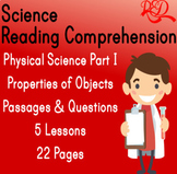 Physical Science Unit   Reading Comprehension   Properties of Objects & Material