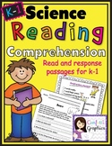 Science Reading Comprehension Reading Response Intergrate Reading Writing K 1