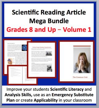 Science Article Bundle Volume 1 - Grade 8 and Up - 35 Science Readings