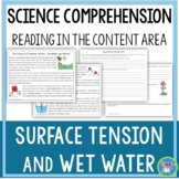 Science Reading Comprehension Structure and Properties of Matter Surface Tension