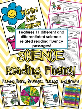 First Grade {covers ALL SCIENCE standards} Reading Fluency Passages and MORE