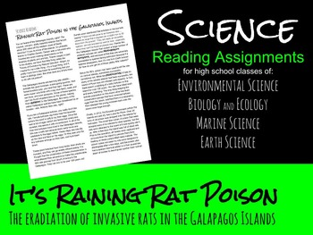 Science Reading - Invasive Rats of the Galapagos Islands