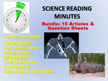 Science Reading Minutes (10 Article Bundle) - Warm Up