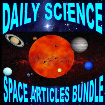 Science Reading Minutes - Space & Planets (10 Articles)