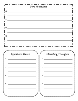 Science Reading Passage Graphic Organizer