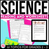 Science Reading Comprehension Passages and Questions Distance Learning