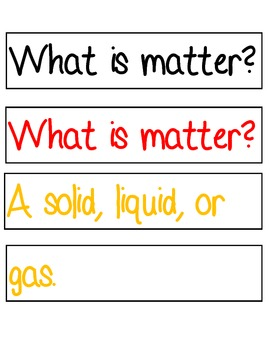 Science:  Rebuild a Poem about Matter