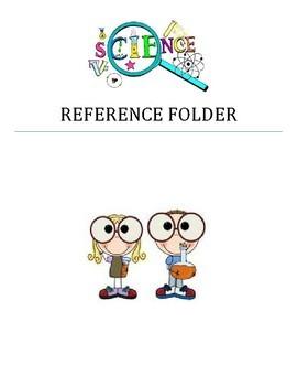 Science Reference Chart for Folder, Notebook, or Binder