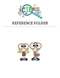 Science Reference Chart for Folder, Notebook, or Binder