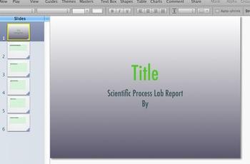 Science Report - Scientific Method - Science Fair - Keynote / PowperPoint