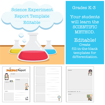science report template for grades k 3 by special education carousel