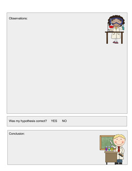 Science Report Template for Grades K - 3