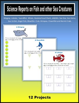 Science Reports on Fish and other Sea Creatures