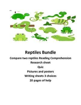 Science Reptile Bundle lessons........ Common Core Aligned