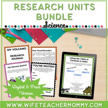 Science Research Units Bundle