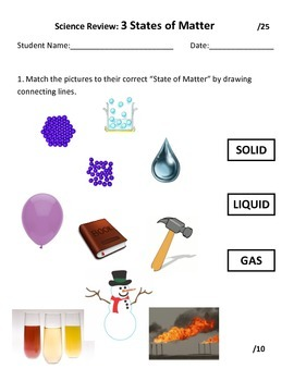 Science Review: 3 States of Matter