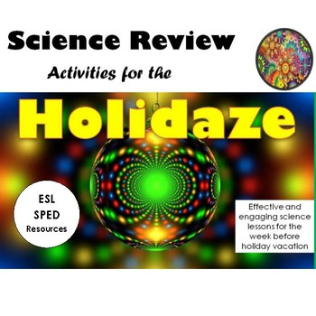 Free Preview:  Science Review Activities for the Holidaze