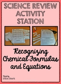 Science Review Activity: Recognizing Chemical Formulas and Equations 8.5.DF