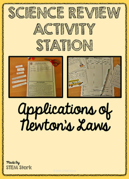 Science Review Activity Station: Applications of Newton's Laws 8.6.C