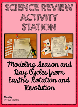 Science Review Activity Station:  Earth's Rotation and Revolution 8.7.A
