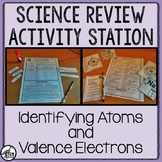 Science Review Activity Station: Identifying Atoms and Val